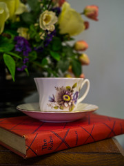 Around the Church: A Good Book and a Cup of Tea (Entropic Remnants) Tags: pictures life old church photography photo still image photos pics colonial picture pic images panasonic photographs photograph f28 remnants entropic gx1 1235mm dmcgx1