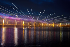 Banpo Bridge RWB (MarkDeibertPhotography) Tags: water fountain night lights zoom korea seoul southkorea hanriver banpobridge