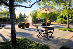 Red Butte Gardens, Salt Lake City (Utah Images - Douglas Pulsipher) Tags: pictures plaza travel flowers trees summer plants tourism nature fountain gardens umbrella garden botanical photography evening utah photo scenery picnic afternoon view natural chairs image photos gardening landscaping scenic picture arboretum images location patio saltlakecity photographs photograph views tables botanicalgarden touristattraction imagery universityofutah stockphoto redbuttegardens gardenfurniture patiofurniture landscaped redbuttegarden photosof