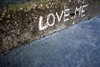 Love me (Rosmarie Wirz) Tags: words reversegraffiti gettyaccepted gettyimageswants