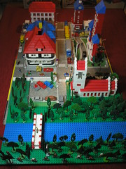 LEGO Town Plan 1960s MOC River View (moor_bricks) Tags: vintage town lego plan 1960s ho 187