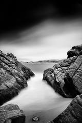 Chute (Ron Rothbart) Tags: sanfrancisco california longexposure blackandwhite bw water monochrome rocks nd bakerbeach neutraldensityfilter 10stopfilter