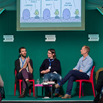 Stephen Collins and Tom Gauld appeared as part of the Book Festival's Stripped programme