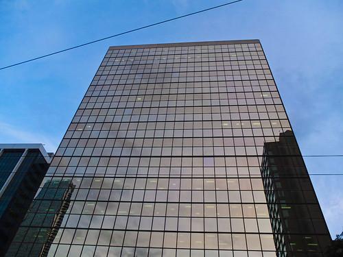 Glasfassade auf der Burrard Street