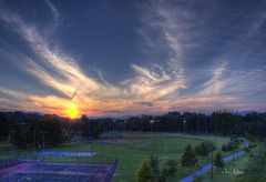 Sunset At Wasena Park - Roanoke (Terry Aldhizer) Tags: park sunset sky sun playing basketball clouds baseball tennis terry fields hdr wasena aldhizer terryaldhizer terryaldhizercom