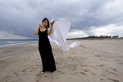breeze (Icarus1566) Tags: sea portrait art water model performance ambient sicily perform maquillage marejonio
