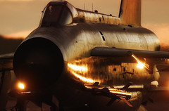 Sunset Lightning (Bernie Condon) Tags: sunset fighter aircraft aviation military lightning bae raf coldwar warplane bac englishelectric bruntingthorpe