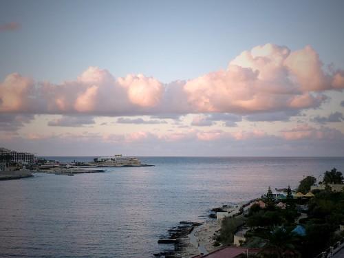 Vue depuis l'appartement, Sliema, Malte