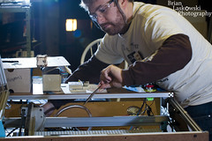 What ya doing? Ohh nothing just fixing a freakin laser! (Brian Laskowski) Tags: movement tech michigan lansing tools homemade laser makers googles crafters strobist