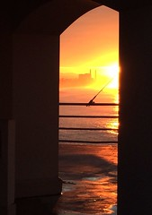 A favorite view of home at sunrise! (ocjgj) Tags: sunrise pier powerplant huntingtonbeach surfcity