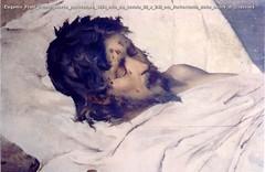 Eugenio Prati Cristo morto particolare 1884 olio su tavola 80 x 240 cm Refrettorio delle suore di Clausura
