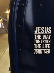 John 14:6 up!!!! (SiMOstickers) Tags: street streetart art john graffiti sticker stickers graff trade 146 slaps uploaded:by=flickrmobile flickriosapp:filter=nofilter