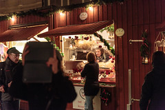 Christmas Market in Old Town, Stockholm, Photographer Emil Lundstrom (Emil Lundstrm) Tags: christmas old winter red night canon town photographer market sweden stockholm mark iii 5d emil christmasmarketinoldtown