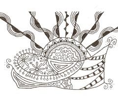 Zentangle (Librarianguish) Tags: art pen ink doodles 1213 zentangle