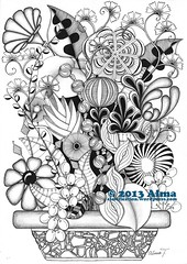 February 2013 (almafication) Tags: illustration drawing doodle zentangle