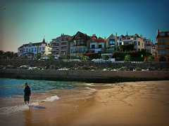 On the Beach (Jocelyn777) Tags: travel portugal beaches cascais textured seas