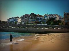 On the Beach (Jocelyn777) Tags: travel portugal beaches cascais textured seas