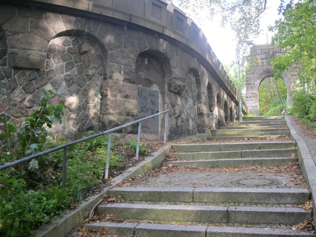 Verschiedene Klepfer Naturstein Foto Von 1908/09 Berlin Südliche Treppenanlage & Granittor Stößenseebrücke