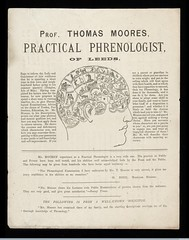 L0040553 Leaflet for Prof. Thomas Moores, a Practical Phrenologi