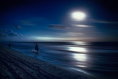 In the blue night (radonracer) Tags: beach strand motionblur radonart