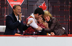 Paige Lawrence & Rudi Swiegers in the Kiss & Cry (Melanie Heaney) Tags: sports action pairs coaching canadians figureskating paigelawrence kissandcry rudiswiegers lyndonjohnston patriciahole