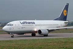 D-ABXM Boeing 737-330 Lufthansa (eigjb) Tags: 2005 plane airplane manchester airport fuji aircraft aviation aeroplane finepix s7000 boeing february lufthansa spotting 737 050205 b737 ringway egcc 737330 dabxm