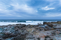 Sea in Paphos. Cyprus. (anyakim) Tags: blue light sea cloud white colour texture nature water landscape coast europe day view place time cloudy stones cyprus wave paphos beautifulexpression