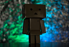 Danbo Foil Bokeh (JakobKeith) Tags: 35mm aluminum bokeh foil sony alpha a77 danbo danboard sal35f18 vision:text=0708 vision:outdoor=0514