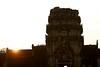 Sun Set at Main Entrance of Angkor Wat (Patumraat) Tags: world old travel holiday building tourism architecture wonder thailand temple ancient cambodia vishnu god religion ruin culture buddhism siem classical civilization wat hindu asean reise reab