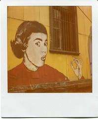 Graffiti - Galvez (hikaru86) Tags: chile santiago slr film vintage project polaroid sx70 graffiti valparaiso stencil mural fuji arte jordan 350 cielo 600 instant abierto 690 70 86 680 sepulveda valpo impossible hikaru sx instax plegable cámara callejero instantánea 779 hikaru86 jordansepulvedalazo