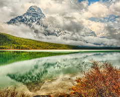 Clouds in Alberta (Jeff Clow) Tags: albertacanada banffnationalpark icefieldsparkway waterfowllake mountchephren jeffrclow banffphototour jeffclowphototours