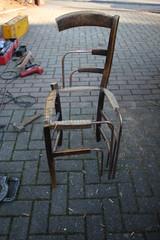 Îk Chair (CoralieLSR) Tags: wood broken project design construction chair cut empty wip strasbourg experimentation product modification 30s shadok renovated coralie îk lasseur
