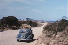 VW heading down hill (spelio) Tags: trip vw jan oz dot scan gigi slides 1963