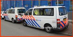 Dutch Police T5's. (NikonDirk) Tags: zhz volkswagen t5gp t5 rijnmond rotterdam politie police nikondirk netherlands nederland hulpverlening holland gp dutch cops cop transporter amsterdam contour marking markings vw touran zuid foto bus 2kfp51