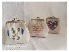 Heart Collection (AnnCrafts Artesanato) Tags: lines vintage pu tecido carteiras portamoedas linho vintagepurse pursecoins