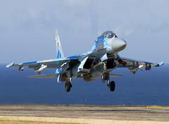 SU-27UB 74 CLOFTING IMG_1649+FL (Chris Lofting) Tags: 74 crimea sukhoi su27 flanker su27ub ukrainianairforce belbek 74blue