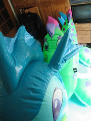 Sea Dragon is looking around her new home (Arambajk) Tags: pool up toy dragon blow collection inflatable float seadragon blowup inflatables nessie drak pooltoy hraka puffypaws nafukovac