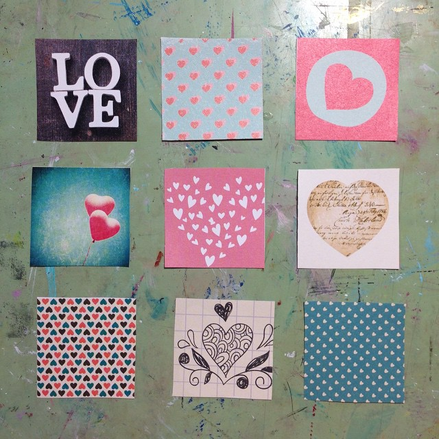 Happy Valentines Day from the Studio!! #studio #art #love #creative #love #heart #valentines