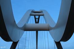 Infinity Blues (Dave Snowdon (Wipeout Dave)) Tags: bridge abstract teesside stocktonontees infinitybridge wipeoutdave canoneos1100d davidsnowdonphotography djs2015