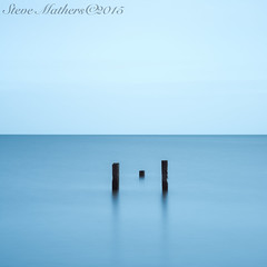 Three Posts #2.... (Ossie13 aka Steve) Tags: longexposure blue ireland sea sky abandoned 6x6 rotting wooden jetty eire le squareformat nd posts decayed decaying d800 2015 500x500 2485mm woodenposts colouth 10stop 50seconds dunany threeposts 10stopndfilter 3posts 50secs 10stopnd nikkor2485 nikond800 stevemathers bigstopper