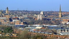 The 13:45 Leeds - Kings Cross heads out of Wakefield over the '99 arches'. (delticfan) Tags: wakefield ect highspeedtrain intercity125 99arches eastcoasttrains