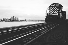CSX out of Louisville (lukesewardphoto) Tags: city railroad trestle bridge urban train river downtown cityscape kentucky tracks engine rails louisville locomotive boxcar choochoo ohioriver railroadtracks autorack wfpk9 lukeseward lukesewardphoto