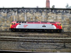 57311 Parker stands on Thunderbird duties at Carlisle station, 12th Aug 2009. (Dave Wragg) Tags: diesel railway loco locomotive thunderbird carlisle parker virgintrains class57 57311