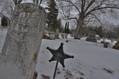 """"""" the uprooted """" (how.nowbrowncow) Tags: winter mist lake cold green cemetery graveyard wisconsin soldier war military tombstone orb haunted spooky mausoleum civil haunting february paranormal gravesite supernatural dartford polio"""
