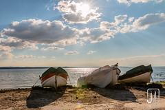 Fishing Boats Resting (Jim Makos) Tags: sea seagulls nature landscape boats coast fishing marine afternoon relaxing sunny greece macedonia thessaloniki resting timeless angling makedonia kalamaria  makedoniathraki