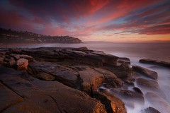 A Moment Of Fantasy (Noval N | Photography) Tags: longexposure sky cliff seascape rock sunrise landscape dawn sydney australia