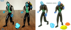 "TRENDMASTERS Unreleased Osmosis Jones 7"" K-RESIN Prototypes with Blue RESIN Germ Cell and Catalog Match-Up (TRENDMASTERS) Tags: 2001 toys jones jonathan prototype catalog resin osmosis unreleased trendmasters shyman"