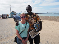 Anette with a local seller!