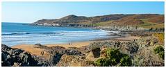 Woolacombe (andyg1962) Tags: sea england panorama seascape green beach nature landscape sand lan devon woolacombe barracane coadt