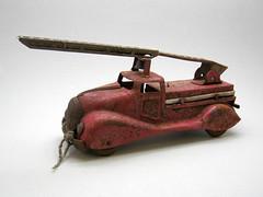 1949 Kelo Toy (The Moog Image Dump) Tags: old vintage fire steel engine rusty super 1949 embossed pressed kelo